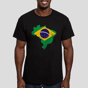 Brazil Flag/Map Men's Fitted T-Shirt (dark)