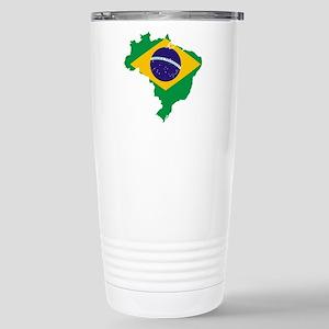 Brazil Flag/Map Stainless Steel Travel Mug