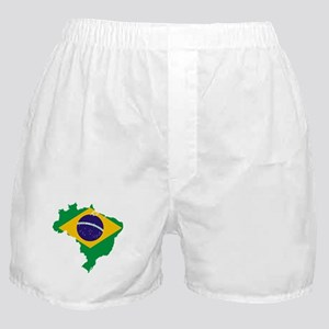 Brazil Flag/Map Boxer Shorts