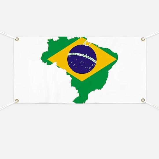Brazil Flag/Map Banner