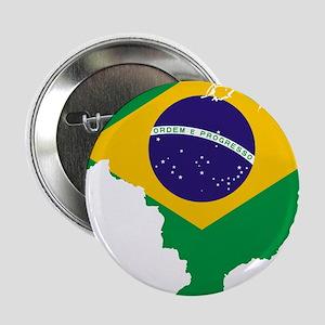 """Brazil Flag/Map 2.25"""" Button"""