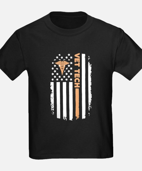 Vet Tech Flag T Shirt T-Shirt