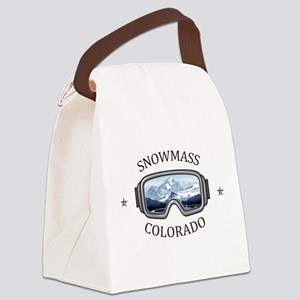Aspen/Snowmass - Aspen and Snow Canvas Lunch Bag