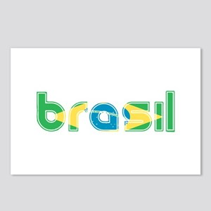 Brazil Flag in Name Postcards (Package of 8)