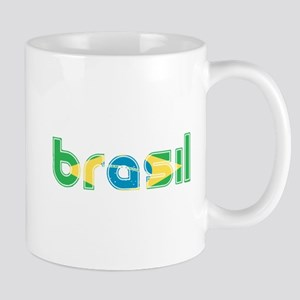 Brazil Flag in Name Mug