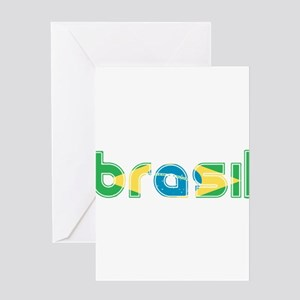 Brazil Flag in Name Greeting Card