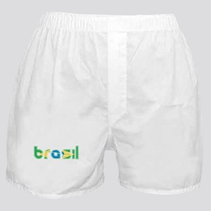 Brazil Flag in Name Boxer Shorts