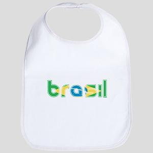 Brazil Flag in Name Bib