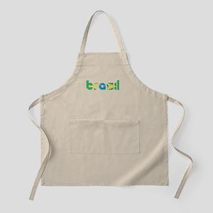 Brazil Flag in Name Apron