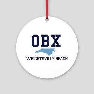Wrightsville Beach NC - Map Ornament (Round)