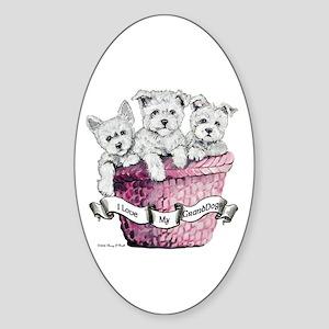 GrandDogs!!! Oval Sticker
