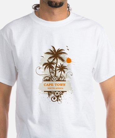 Cape Town South Africa White T-Shirt