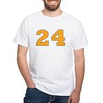 Twenty-four Orange/Blue White T-Shirt