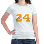 Twenty-four Orange/Blue Jr. Ringer T-Shirt