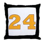 Twenty-four Orange/Blue Throw Pillow