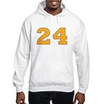 Twenty-four Orange/Blue Hooded Sweatshirt
