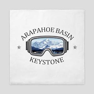Arapahoe Basin - Keystone - Colorado Queen Duvet