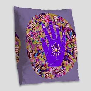 Lucky Zodiac Hand 17 Circle Pu Burlap Throw Pillow