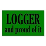 Proud Logger Sticker (Rectangle)