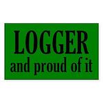 Proud Logger Sticker (Rectangle)