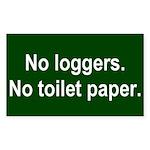 Toilet Paper Sticker (Rectangle)