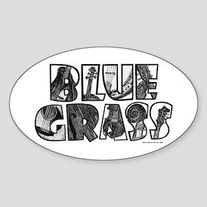 Bluegrass Design Sticker (Oval)