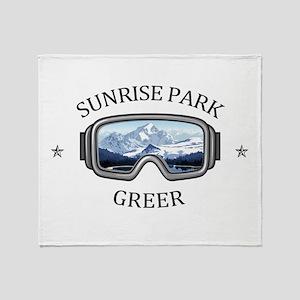 Sunrise Park Resort - Greer - Ariz Throw Blanket