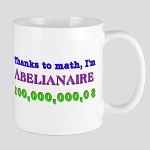 Thanks to math, I'm Abelianaire mug