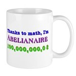 Thanks to math, I'm Abelianaire mug