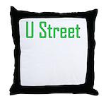 U Street Green/Blue Throw Pillow