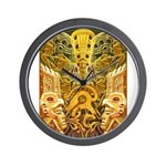 Tribal Gold Wall Clock