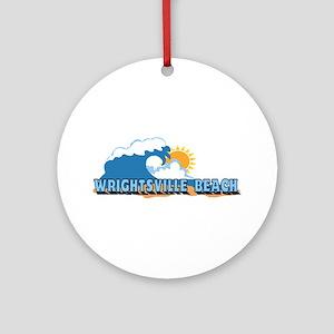 Wrightsville Beach NC - Waves Design Ornament (Rou