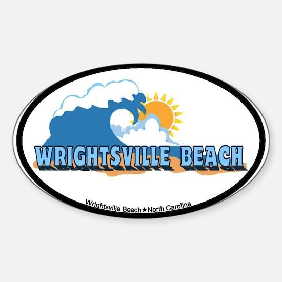 Wrightsville Beach NC - Waves Design Decal
