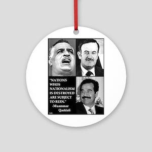 Arab Nationalism Print Ornament (Round)