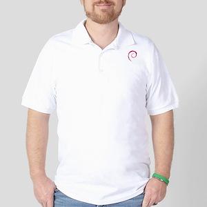 linux_debian_tiltswirl Golf Shirt
