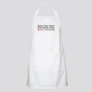 Open Your Heart And Hands Lea BBQ Apron