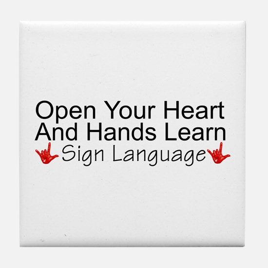 Open Your Heart And Hands Lea Tile Coaster