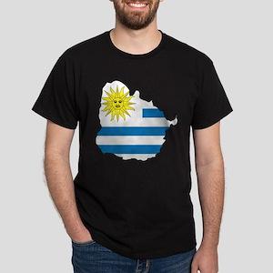Map Of Uruguay Dark T-Shirt
