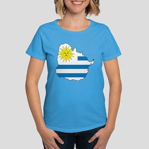 Map Of Uruguay Women's Dark T-Shirt
