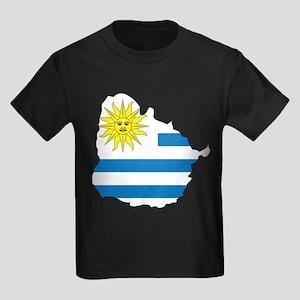 Map Of Uruguay Kids Dark T-Shirt