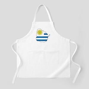Map Of Uruguay Apron