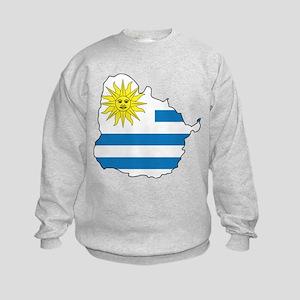 Map Of Uruguay Kids Sweatshirt