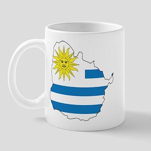 Map Of Uruguay Mug