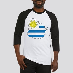Map Of Uruguay Baseball Jersey