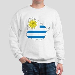 Map Of Uruguay Sweatshirt