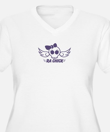 RA Chick Purple Plus Size T-Shirt
