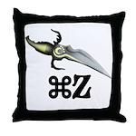 Command Z Throw Pillow