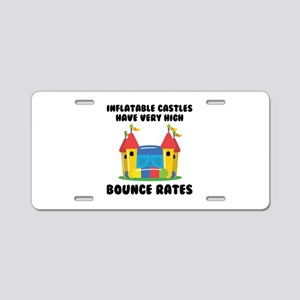 Bounce Rates Aluminum License Plate