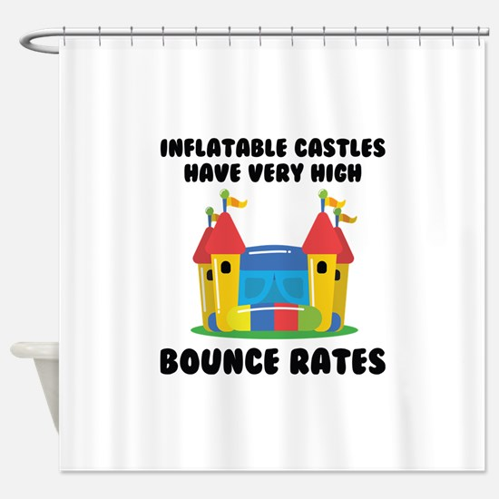 Bounce Rates Shower Curtain
