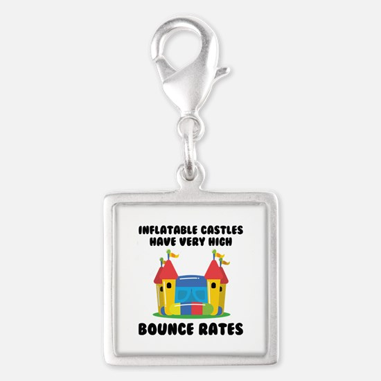 Bounce Rates Silver Square Charm